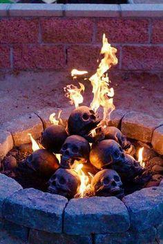Skull fire bricks