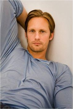Alexander Skarsgard.     One of my only exception to my blonde man exception!