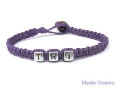 Royal Purple Try Bracelet Triathlon Race Day by MandarrCreations