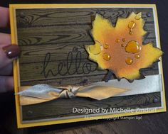 Wet Leaf Stampin' Up! Card created by Michelle Zindorf