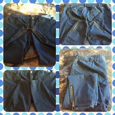 Forever 21 Straight leg Denim Jeans.  Size 20 Forever 21 straight leg denim jeans with ankle zipper detail.  Size 20. Medium wash.  No trades.  Ask for price drop using offer option. Forever 21 Jeans Skinny
