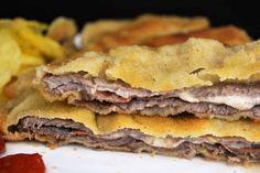 Cachopo asturiano, receta casera Empanadas, Carne, Tapas, Sandwiches, Ethnic Recipes, Food, Gastronomia, Ham And Cheese, Homemade Recipe