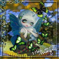 Butterfly Magic ...  Fairy Blingee by stina scott