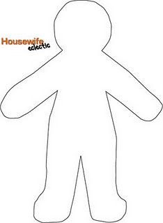 Free paper doll template - I'm making them out of felt!
