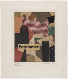 Mz 379. Potsdamer, 1922. Cut-and-pasted colored and printed papers on paper with card stock border. 27.9 x 23.8 cm