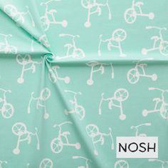 Stof van Nosh Organics uit 95% biokatoen & 5% elasthan met een breedte van 150 cm.