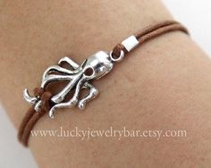 WANT antique silver octopus bracelet octopus by LuckyJewelryBar on Etsy, $1.59