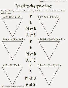 Karine& class: Priorities of operations - Karine& class: Priorities of operations - Grade 6 Math, Montessori Math, Order Of Operations, Future Jobs, Number Sense, Child Development, Classroom Management, Mathematics, Kids Learning