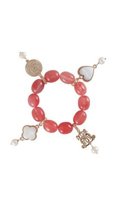 Dara Loft - Bowerhaus - Lucky Bracelet - Rose Logged Agate USD85 International Shipping Available - email us for shipping quotes to other countries  sales@daraloft.com