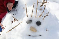 sticks and stones in the snow - happy hooligans - natural element play Child Day, Child Love, Nature Activities, Toddler Activities, Painting For Kids, Drawing For Kids, Library Pictures, Happy Hooligans, Girl Silhouette