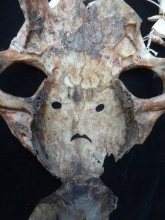 Scrimshaw Skull Mask Adornment Belu Atoni Timor Tetum Tribal Art Collectable #Atonitribalhighlands
