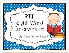 Description: After searching for the perfect sight word intervention and not finding one that fit my needs, I decided to create one to help all of . Response To Intervention, Reading Intervention, English Language Learners, Language Arts, Teaching Reading, Guided Reading, Teaching Ideas, Ell Students, School Fun