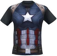 ddc60448a47 Captain America Civil War - Costume T-Shirt multicolour  Amazon.de   Bekleidung