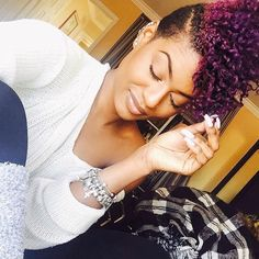 ***Try Hair Trigger Growth Elixir*** ========================= {Grow Lust Worthy Hair FASTER Naturally with Hair Trigger} ========================= Go To: www.HairTriggerr.com ========================= Loving This Curly Purple Mohawk!!