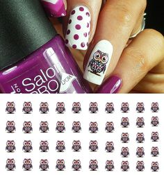 Owls WaterSlide Nail Art Decals No.1 - Salon Quality 5.5 >>> See this great product.