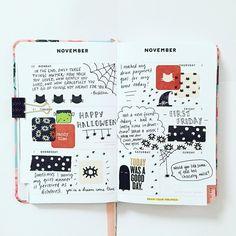 """72 Likes, 3 Comments - @lilylovesplanning on Instagram: """"Halloween journaling.  #halloween #halloween2017 #art #artjournal #artjournaling #journal…"""""""