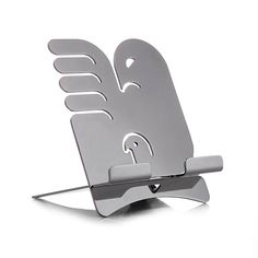 "Tablet stand ""Alicanto"" by Holly Birkby for Carrol Boyes. Made in South Africa. Africa Art, Tablet Stand, Kitchen Art, Swiss Army Knife, Fine Dining, All Design, Metal Art, Product Design, Bookends"