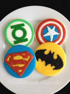 Superhero cookie designs!