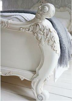 Provencal Sassy White French Bed