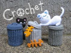 Alley Cats amigurumi crochet pattern by StripeysPatterns $5.50