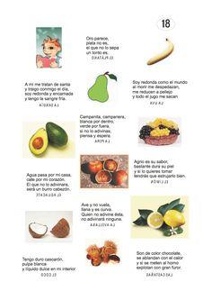 Los duendes y hadas de Ludi: Adivinanzas de frutas , frutos y alimentos