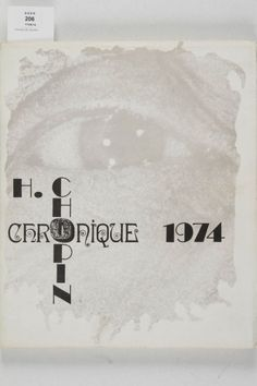 CHOPIN Henri. Chronique, 1974.