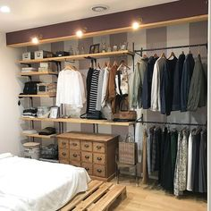 Awesome 44 Creative Open Closet Design Ideas For Your Bedroom That You Need To Have Bedroom Closet Design, Wardrobe Design, Closet Designs, Home Bedroom, Bedroom Decor, Bedroom Rustic, Bedroom Ideas, Rustic Closet, Closet Rooms