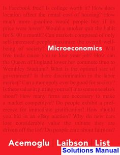 Microeconomics 12th edition solutions manual michael parkin free solutions manual for microeconomics 1st edition by acemoglu fandeluxe Gallery