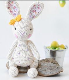 Diy Crochet Toys, Easter Crochet, Crochet Bunny, Crochet Animals, Crocheted Toys, Hello Kitty, Reno, Minnie, Stuffed Toys Patterns