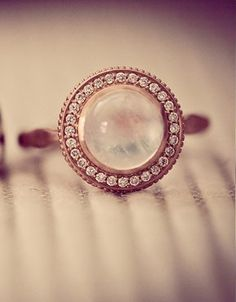 vintage inspired moonstone ring {I wish the original pinner had put the link to where this came from!!!}