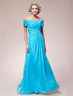 A-line Off-the-shoulder Floor-length Chiffon Mother of the B... – USD $ 199.99