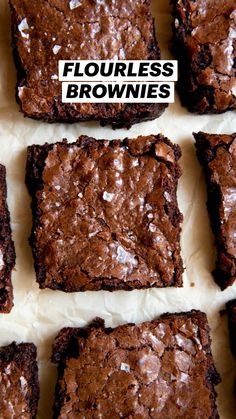 Flourless Chocolate Brownies, Fudgy Brownies, Chocolate Flavors, Chocolate Chocolate, Gluten Free Desserts, Delicious Desserts, Dessert Recipes, Yummy Food, Yummy Recipes
