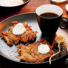 Potato-Apple Latkes | CookingLight.com