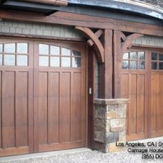 Garage doors and trellis