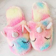 Cute Slippers, Slippers For Girls, Crocheted Slippers, Felted Slippers, Little Girl Toys, Toys For Girls, Unicorn Gifts, Cute Unicorn, Unicorn Bedroom Decor