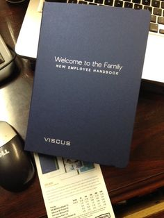 "Probably my favorite piece. No more lifeless 3-ring binders! This Employee Handbook says ""WE VALUE YOU and we want you to know it!"" Love it!!! - http://ift.tt/1HQJd81"