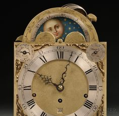 """Charles Cabrier Musical Table Clock, London, c. 1780, the mahogany case with pagoda top, pierced side frets backed with fabric, carrying handles, scrolled feet and brass mounts flanking the tombstone-shaped glazed door over the composite brass dial with silvered Roman numeral chapter ring, subsidiary dials, one for """"Strike-Silent"""" and signed Charles Cabrier, London,"""
