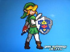 Link - Legend of Zelda Perler Bead Sprite Figure (PKMN Trainer)