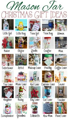Mason Jar Christmas Gift Ideas over 30 ideas for everyone on your list