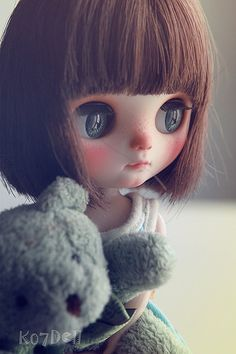 Cute Cartoon Girl, Cartoon Pics, Ooak Dolls, Blythe Dolls, Cute Baby Dolls, Donia, Cute Girl Wallpaper, Creepy Dolls, Little Doll
