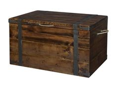Rustic Captains Chest - Rustic Coffee Table or Blanket Chest. End Table Size Also Available. Available on Lights in the Northern Sky