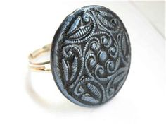 Ring from old button mold