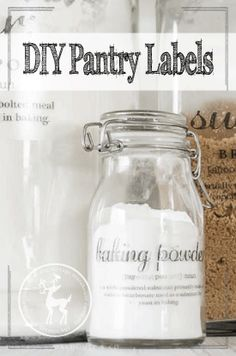 DIY Pantry Label by
