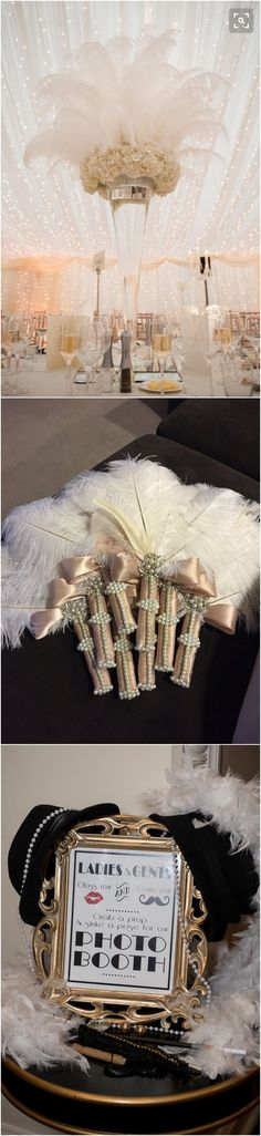 30 Great Gatsby Vintage Wedding Ideas for 2018 Trends - Page 3 of 3 - Oh Best Day Ever - Great Gatsby Themed Vintage Wedding Ideas - Gatsby Theme, Great Gatsby Wedding, 1920s Wedding, Art Deco Wedding, Dream Wedding, Gatsby Style, Wedding Ideas 2018, Cute Wedding Ideas, Wedding Inspiration