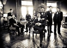 Classic-Black-and-White-Groomsmen-Photo-by-True-Photography-Weddings