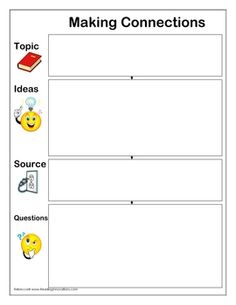 Making Connections Chart: Before Reading Activity