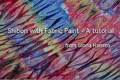 shibori dyeing with fabric paints- great technique for Setacolor paints! @Pebeo - English