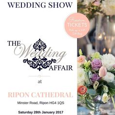 #Yorkshire's largest and #finest FREE Entry #WeddingShow is at @riponcathedral on Saturday 28th January 2017 11-3pm. The BEST day out with professional catwalk shows live music from wedding bands entertainment workshops traditional and vintage suppliers tea rooms cocktail bars and so much more! Enter two amazing competitions to WIN a 5000 Honeymoon #competition courtesy of @bridesabroadpublisher and two Tickets to attend Adele The Finale at Wembley Stadium her very last concert on 2nd July…