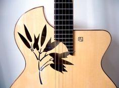 Check out top beginner guitar tips :) 3746 Guitar Inlay, Guitar Art, Music Guitar, Cool Guitar, Custom Acoustic Guitars, Custom Electric Guitars, Custom Guitars, All Music Instruments, Signature Guitar