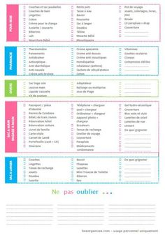 liste valise des vacances page 2